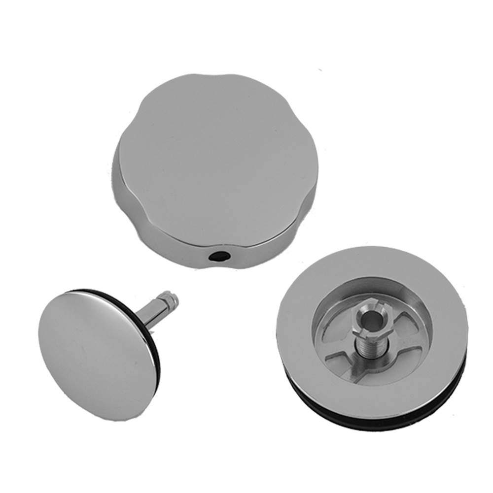 Satin Nickel Jaclo 531-75-SN Toe Control Drain Strainer with Single Hole Faceplate 3
