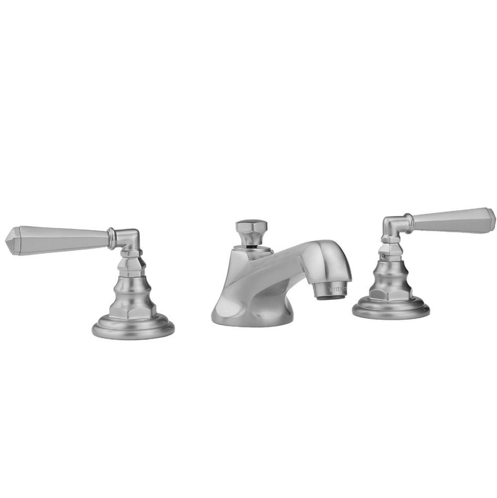 Jaclo 9930-T667-S-240-TRIM-AB Roaring 20s Bathtub Filler with Ribbon Lever Handles and Straight Handshower Antique Brass