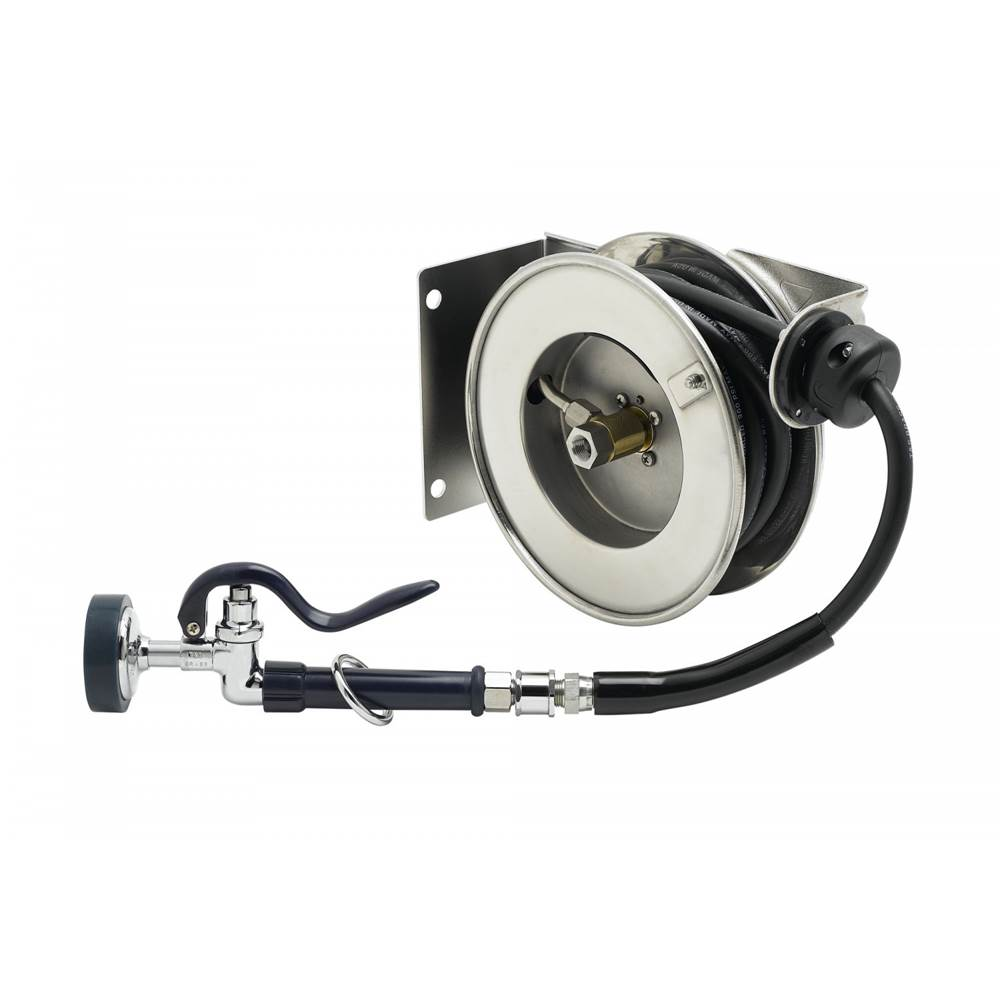 T/&S Brass B-7142-08M Open SS Reel with B-0108 3//8 x 50
